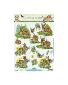 Natural Beauty Hert-Eekhoorn-Konijn 11053-304 Hobbypost_small