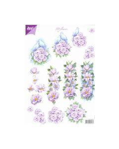 Joy Craft 6010 0021 3D vel Bloemen-Duiven_small