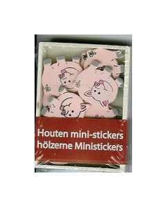 Houten mini-stickers BH242599 Varkens_small
