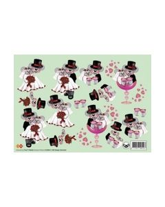 Card Deco HJ3903 Bruidspaar_small