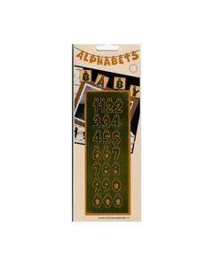Alphabets cijfers stippen LH 0509 Goud_small