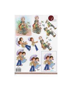 Classics Charming 3D 4.610.088 Meneer Mevrouw kinderen Avec_small
