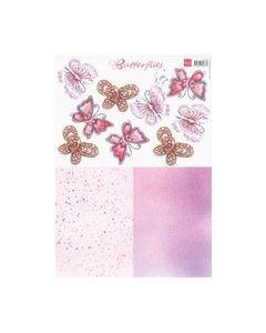 3D vel Butterflies IT516 hoort bij de mallen Flower stencils_small