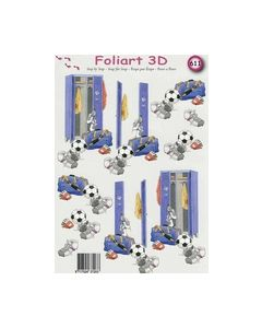 Foliart 3D Voetbal 611_small