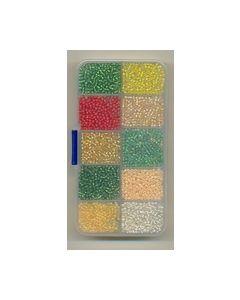 Craft embellshments Kleine gekleurde kraaltjes 13-0097_small
