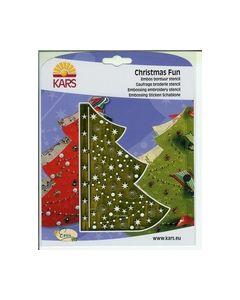 Christmas Fun borduur embossing stencil Kerstboom EF 1904_small