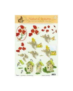 Natural Seasons 46 Bloemen konijn vogel STAPNS46_small