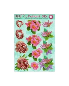Foliart 3D 616 lia rood bloemen_small