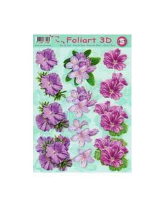 Foliart 3D 617 Bloemen lila Paars_small