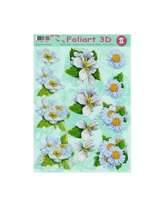 Foliart 3D 619 bloemen wit_small