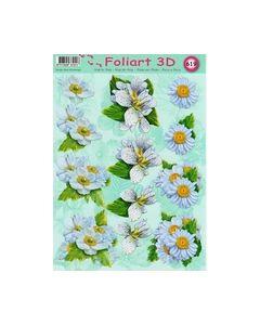 Foliart 3D 619 bloemen wit_small