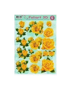 Foliart 3D 620 gele bloemen_small