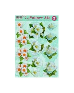 Foliart 3D 623 bloemen wit_small
