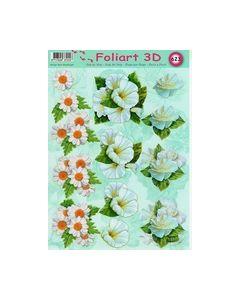 Foliart 3D 623 bloemen wit_small