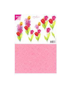 Joy craft 6010 10113 knipvel Flowers Tulpen_small