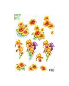 Joy crafts 3D Flowers 6010 0024 Zonnebloem Iris_small