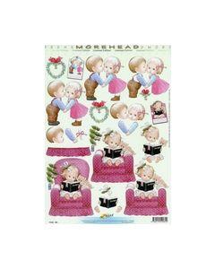 Morehead 3D knipvel 11052-081 Jongen Meisje Kerst_small
