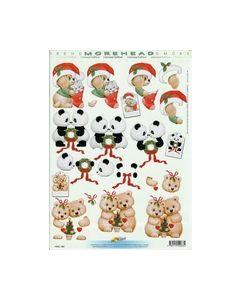Morehead 3D knipvel 11052-083 Hond Beertjes Kerst_small