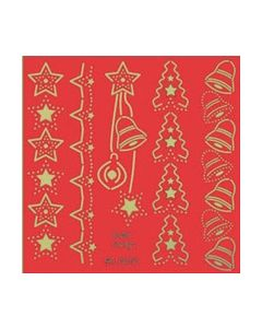 Betsy's Kerstmallen WL 8025 sterren Klokjes Dennebomen_small