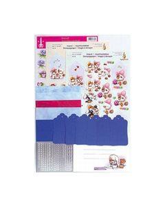 Mylo en Friends Label kaarten pakket Blauw 51.4468_small