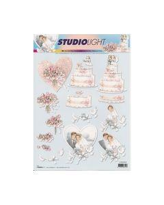 Studiolight STAPKD848 3D knipvel Bruidspaar taart_small