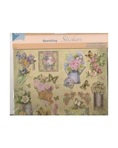 Joy sparkling Stickers Transparant bloemen 6013 0901_small