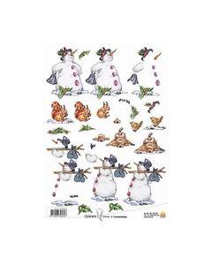 Ollyfant 3D knipvel 117145 12056 Sneeuwpop_small