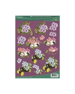 Hobby Design 3D vel 73072 auto step band bloemen_small