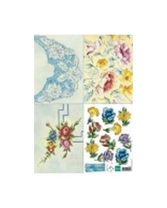 Handmade knipvel IT 549 Blauw-geel Tiny_small