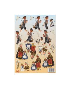 Card Deco 3D knipvel Jongens -meisjes HJ5803Turn Around_small