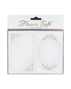 Flower Soft kaart ovaal+Rechthoek 10 st. nr.510093_small