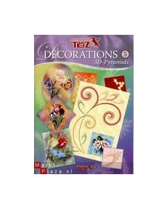TBZ Decorations 5  3D-Pyramids 303005 Bloemen_small