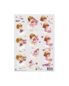 Fema Design Nellie Snellen FEA005 Meisje met bloemen konijn_small