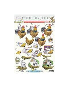 Hobbypost Country kip haan koffie Geit 11053-317_small