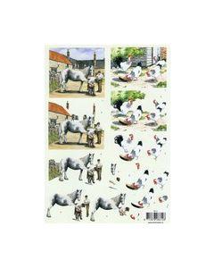 Intertrade 8614 Paarden-Kippen knipvel_small