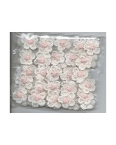 Crochets gehaakte bloemen nr.1317 Wit hart rose_small