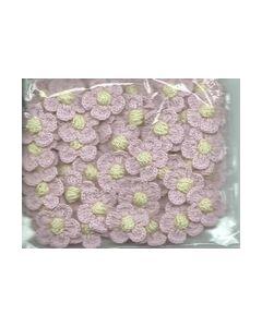 Crochets gehaakte bloemen nr.1313 Rose hart geel_small