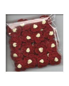 Crochets gehaakte bloemen nr.1321bruin hart geel_small
