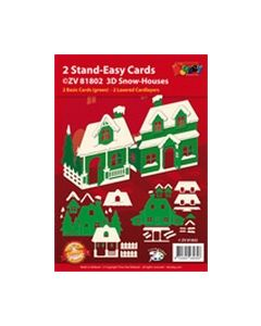 2 Stand-Easy Cards 3D Snow-House ZV81802 Doodey_small