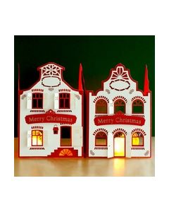 2 Stand-Easy Cards 3D Snow-House ZV81801 Doodey_small