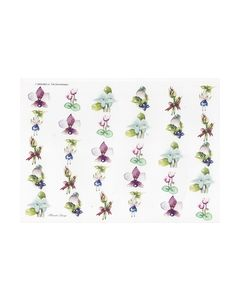 Wekabo3D knipvel 734 Kleine Bloemen en vogels_small