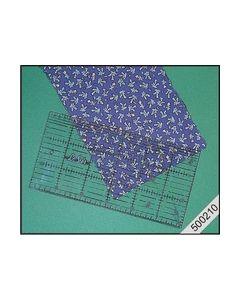 Quiltliniaal met metaalrand 30x15cm. nr.500210_small
