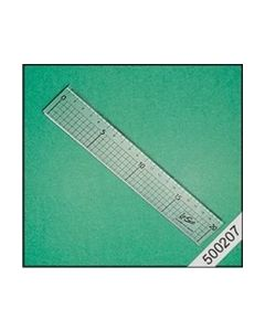 Kunssttof liniaal 20cm+ metalen rand nr. 500207_small