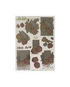 Gestanst metallic 3D etappe vel Bloemen Le Suh 600005_small