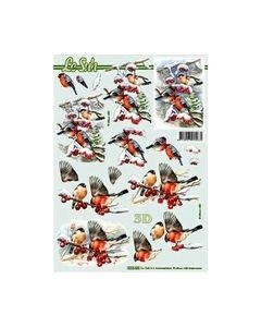 Le Suh 3D Vel Kerst vogels 8215.438_small