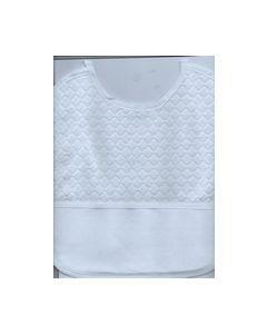Baby Slabbetje Wit voorzien van aida zak te borduren art.137_small