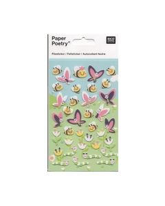 Viltstickers paper poetry Vlinders Bijen 087927006_small