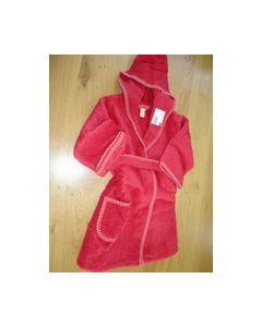 Kinderbadjasje rood met bordduurrand no.74022800 Rico Design