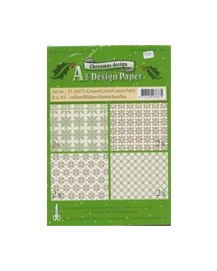 ChristmasA5 Design papier 516875 Groen_small