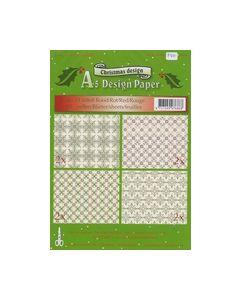 Christmas A5 Design papier rood 516868_small